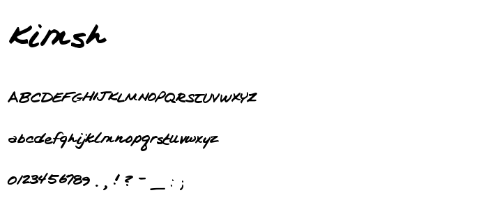 Kimsh font