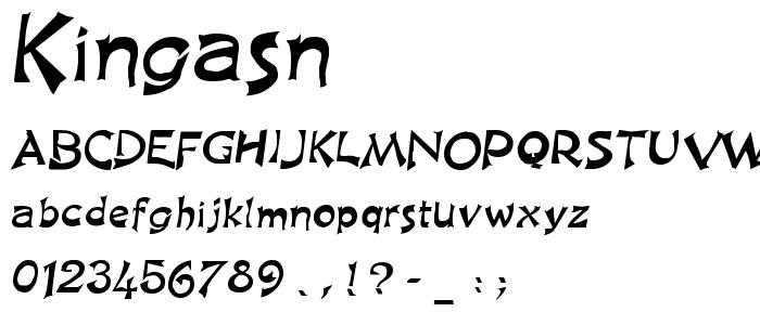 Kingasn font