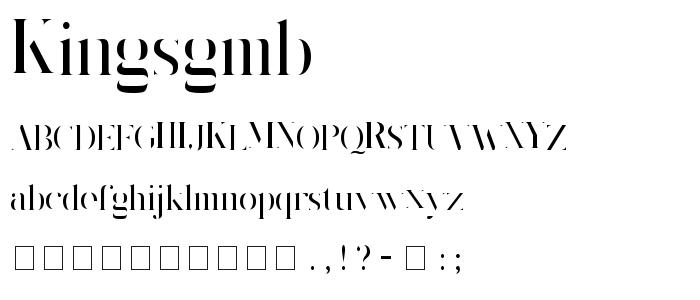 Kingsgmb font