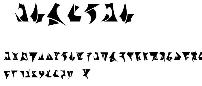 Klinzhai font