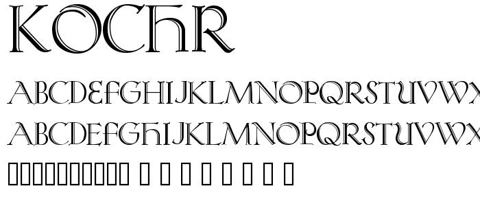 Kochr font