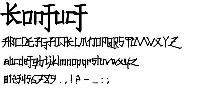 Konfucf font