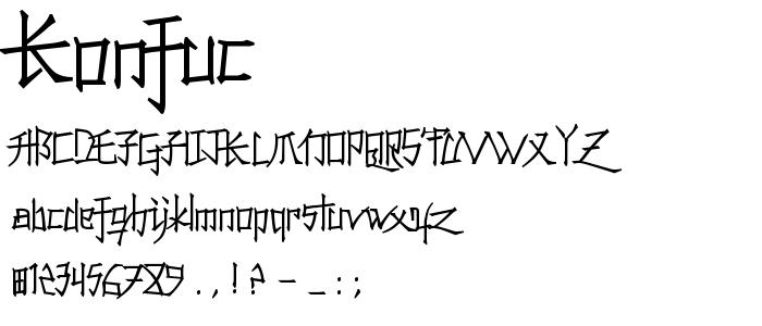 Konfuc font