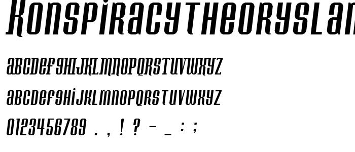 Konspiracytheoryslant font