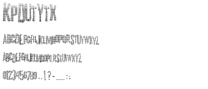 Kpdutytx font