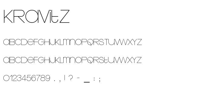Kravitz font