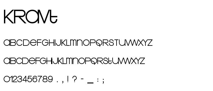 Kravt font