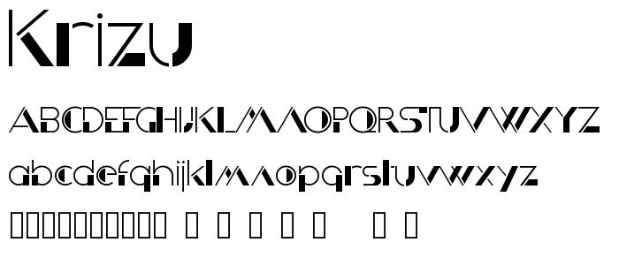 Krizu font