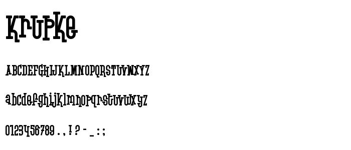 Krupke font