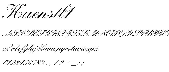 Kuenstl1 font