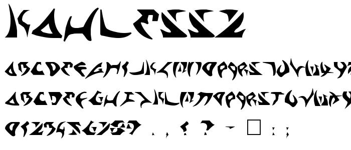 Kahless2 font
