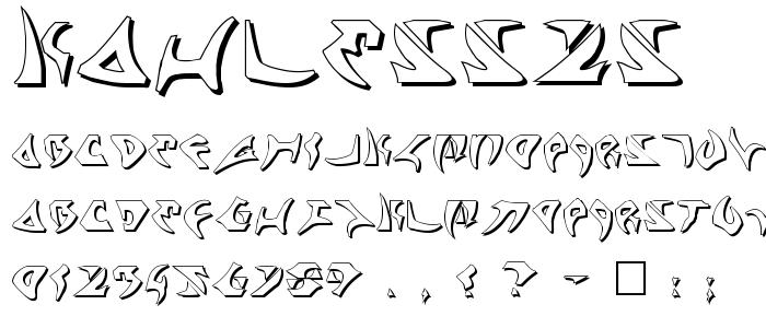Kahless2s.ttf font