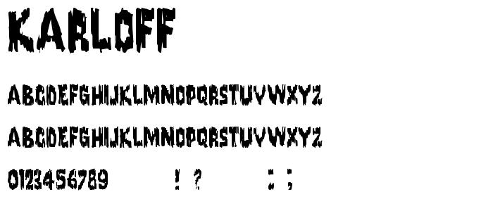 Karloff font