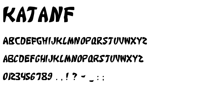 Katanf font