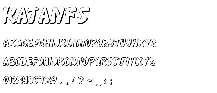 Katanfs font