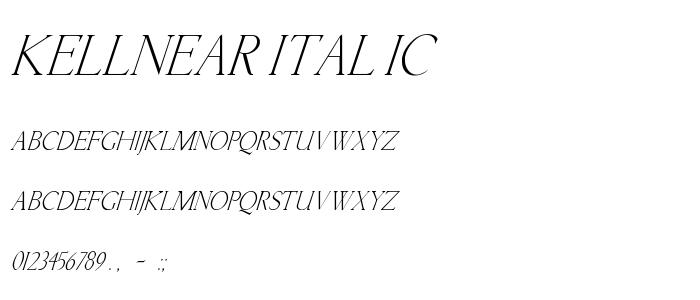 Kellnear Italic font