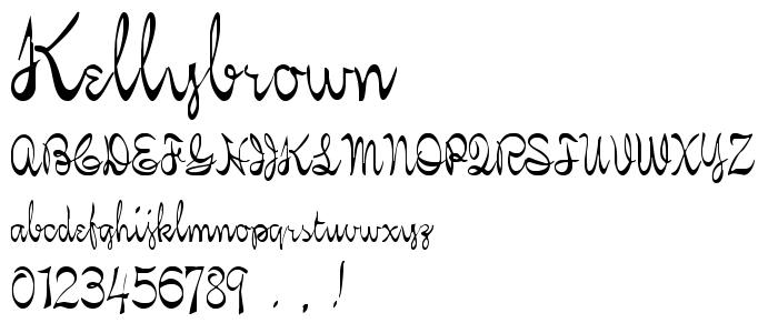 Kellybrown font