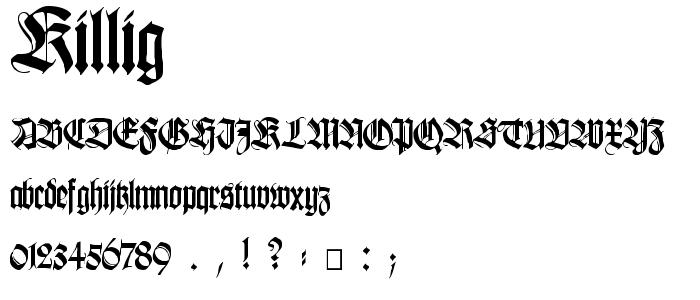 Killig font