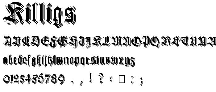 Killigs font