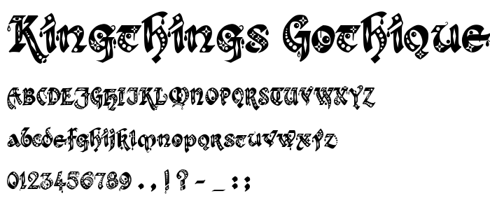 Kingthings Gothique font