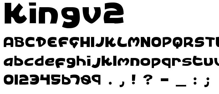 Kingv2 font