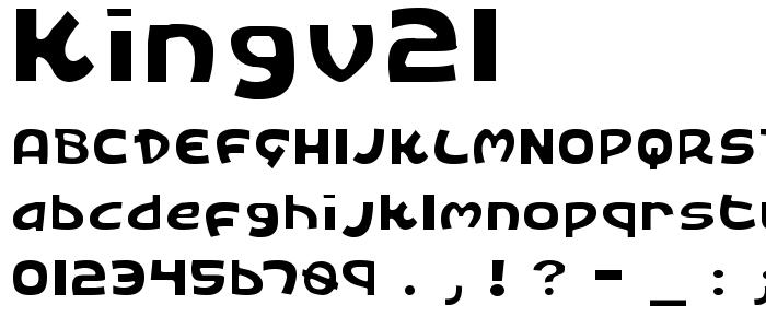 Kingv2l font