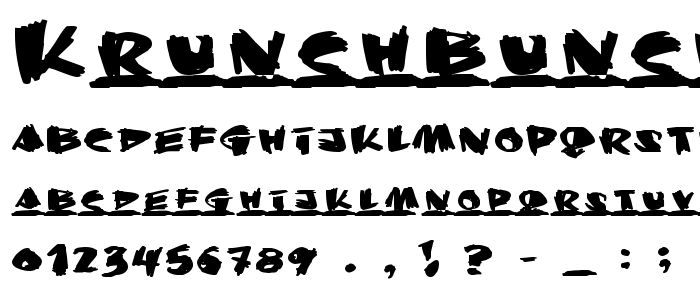 Krunchbunch font