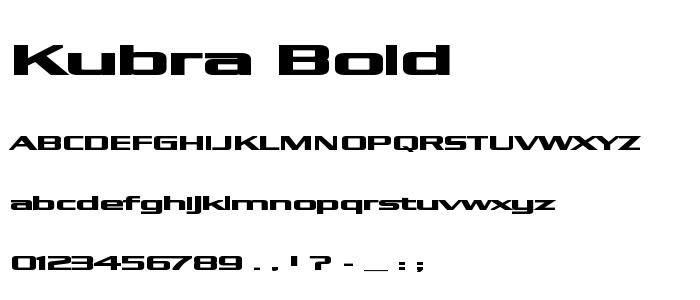Kubra Bold font