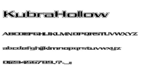 Kubra Hollow font