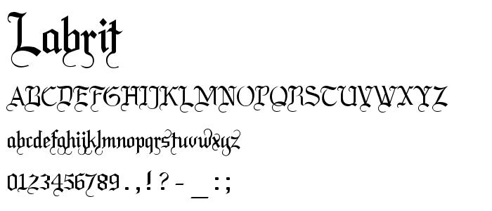 LABRIT__.ttf font