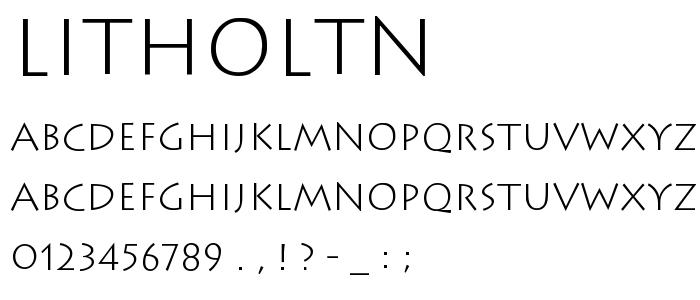 Litholtn font