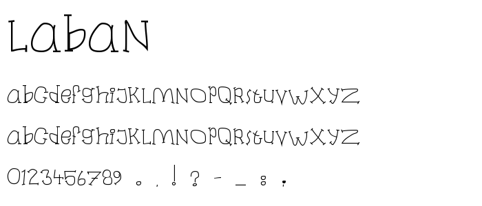 Laban font