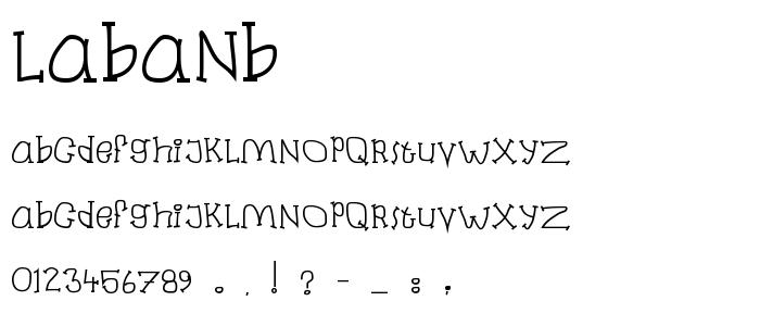 Labanb.ttf font