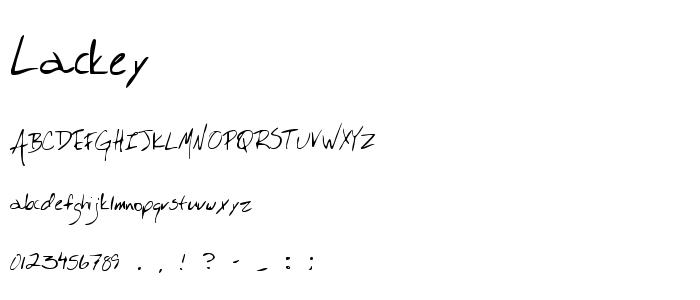 Lackey.ttf font