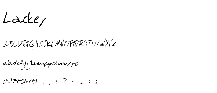 Lackey font