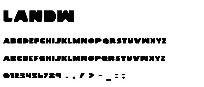 Landw font