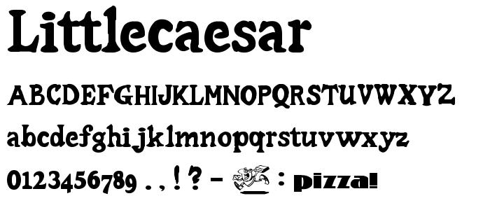 Littlecaesar font