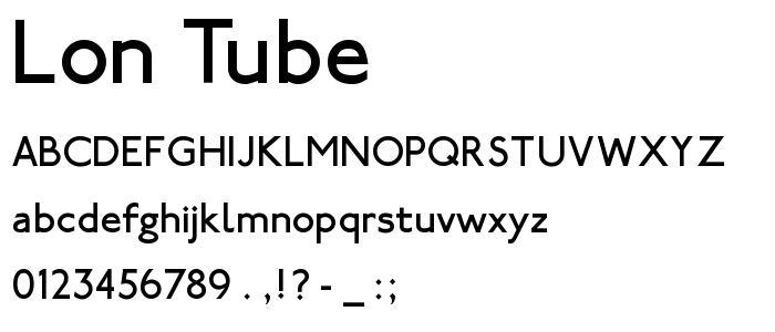 Lon Tube font