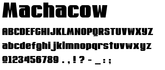 Machacow font