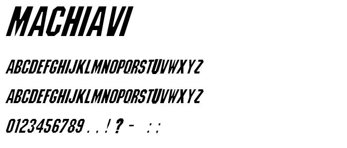Machiavi font