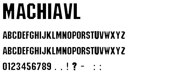 Machiavl font