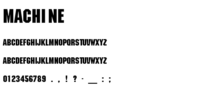 Machine font
