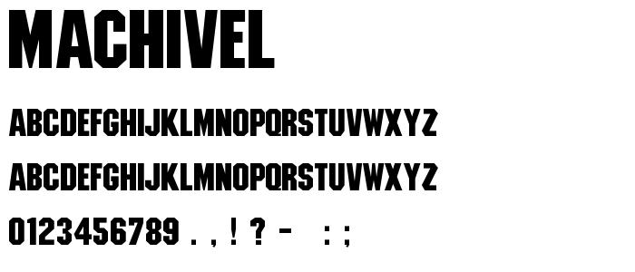 Machivel font