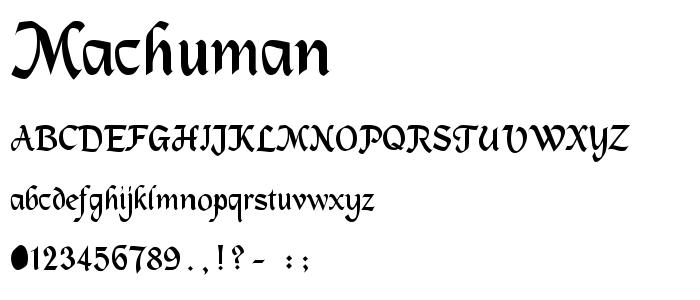 Machuman font