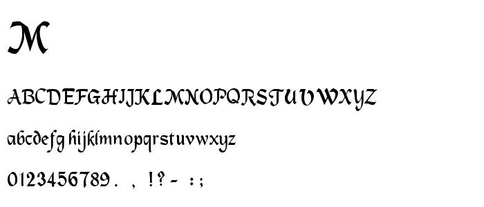 Machuml font