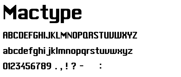 Mactype font