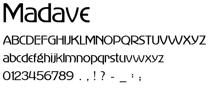 Madave font