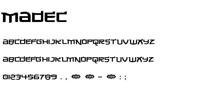Madec font