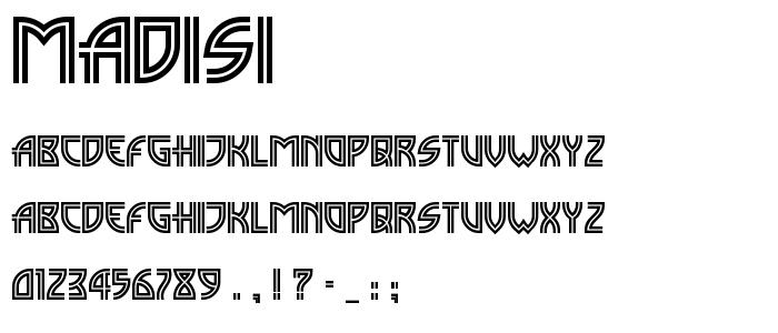 Madisi font
