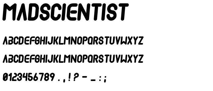 Madscientist font